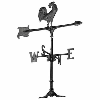 30-Inch Rooster Accent Weathervane - Black