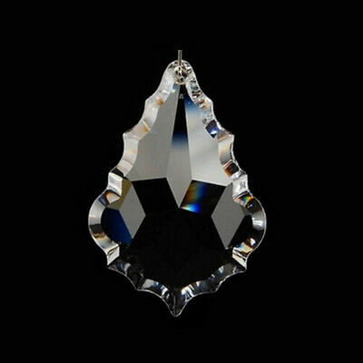 1PCS Clear Crystal Prisms Beads Silver Rings Chandelier Parts Pendants Hang 50mm