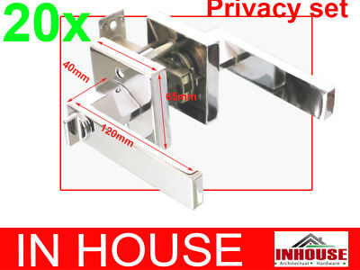 Builders!wholesalers!resell!bulk 20xDoor handles-Privacy set-Chrome finish(6502)