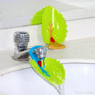 Faucet Leaves Extender Accessory Toddler Kids Hand Wash In Bathroom Sink Useful