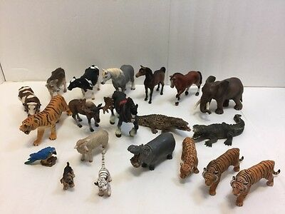 Lot Of 20 Schleich Assorted Wild & Farm Animals