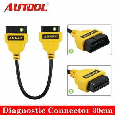 New AUTOOL OBD2 16PIN Male to Female Extension Cable Diagnostic Connector 30cm