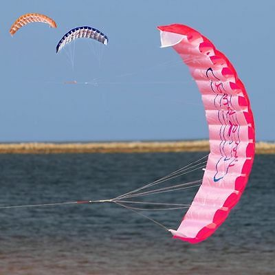 1.4m Beginner Power Dual Line Stunt Parafoil Parachute Rainbow Sports Beach Kite