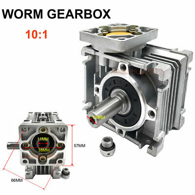 NEMA23 Worm Gear Reducer Gearbox 10:1 Speed Reducer for Stepper Motor 57mm