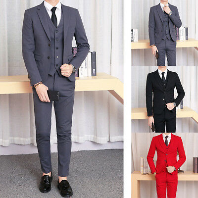 New Men Suits 3 Pieces Formal Suits Formal Business Suits Regular Wedding Suits