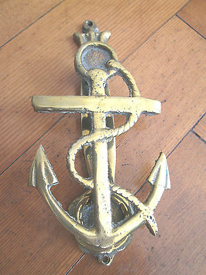 Old Solid Brass Anchor Door Knocker