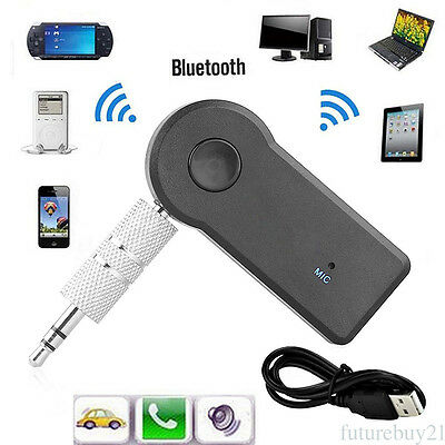 3.5mm Wireless USB Bluetooth Aux Stereo Audio Music Car Adapter Receiver Device