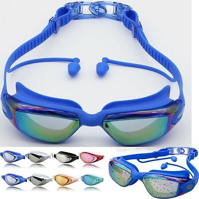 Anti Fog Swimming Goggles for Men Women Boys Girls Adult Junior Kids with earbud