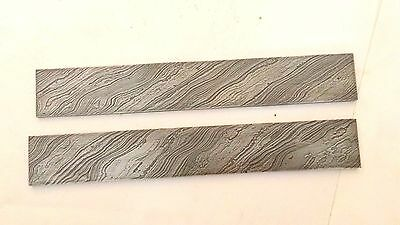 wholesale lot of two high carbon damascus steel bar knife making purpose