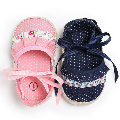 0-18M Princess Newborn Summer Sandals Baby Infant Girl Lace Soft Sole Crib Shoes