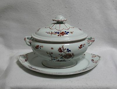 Mottahedeh Vista Alegre Amor'e Peony Oval Tureen with Underplate