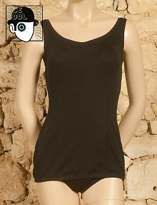 VINTAGE 60s 'TROPIC' SWIMSUIT - UK 10 fitted 12 - NEW - (Z)