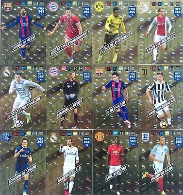 PANINI ADRENALYN XL FIFA 365 2018 LIMITED rare LEWANDOWSKI ALMEIDA MESSI RONALDO