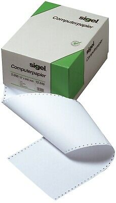 DIN-Computerpapier, 1fach, 12 Zollx240 mm (A4 hoch), längsperforiert, 2000 Bl.