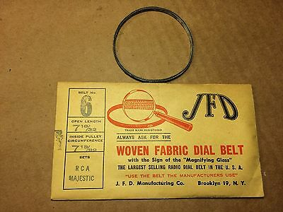 NOS Antique JFD Fabric Radio Dial Belt Number 6 GUARANTEED for RCA Majestic
