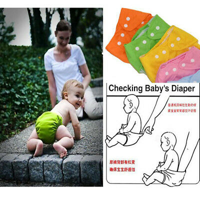 Reusable Adjustable High Quality Washable Baby Infant Covers Diapers Nappy GO#