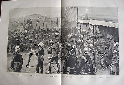 1880 Antique Print -  Afghan Campaign-Garrison Sports At Candahar