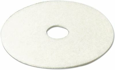 3M Super Polish White Floor Pad 4100, 19', (Pack Of 5)