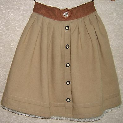 Palomino Original German Girls Trachten Skirt Edelweiss Embroidery Sz.  EU 128