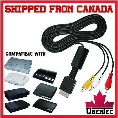 RCA Cable For Sony PlayStation 1 2 3 PS1 PSone PS2 PS3 Composite Cable Video AV
