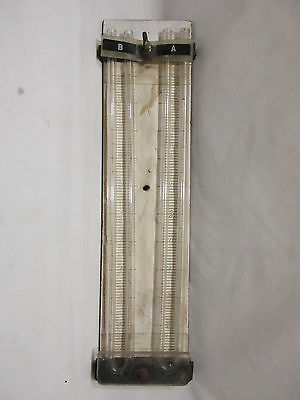 Vintage Dual Open Manometers, Glass U-Tubes, In Inches, Lab Use or Display