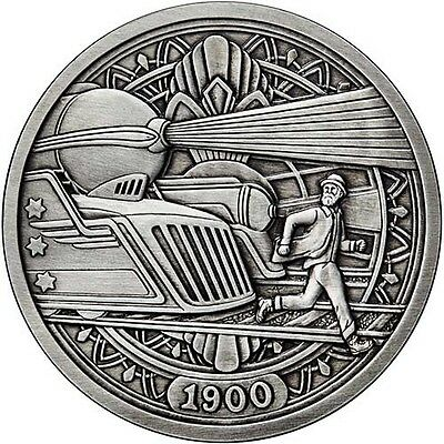 Hobo Nickel Series The Trains 1 oz .999 Silver Antiqued Finish Round USA Coin