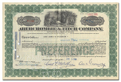 Abercrombie & Fitch Company Stock Certificate
