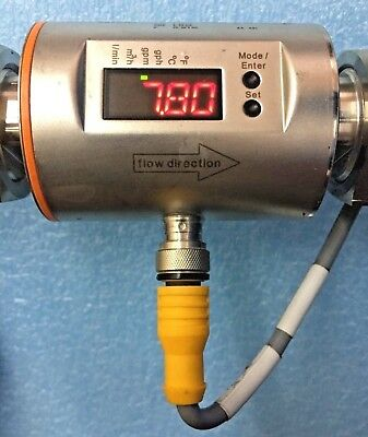 *TESTED* IFM Efector SM6004 Electronic Magnetic Flow Meter 25 L/min (6.6 gpm)