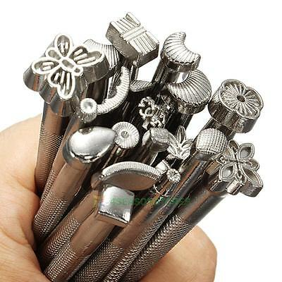 20pcs Leather Working Saddle Making Tools DIY Craftool Leather Craft Stamps Set