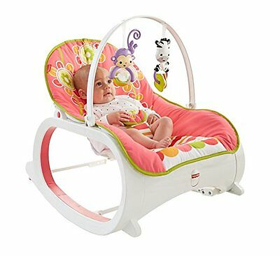 Fisher-Price Infant-to-Toddler Rocker Floral Confetti , NEW