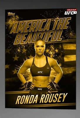 Topps UFC Knockout - Ronda Rousey America The Beautiful Award (80cc) [Digital]