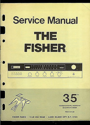 The Fisher 35 AM FM Stereo Tuner Receiver Original Factory Service Manual
