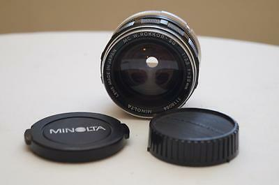 Minolta MC W. Rokkor-SG 50mm 1:3.5 Lens EXCELLENT CONDITION