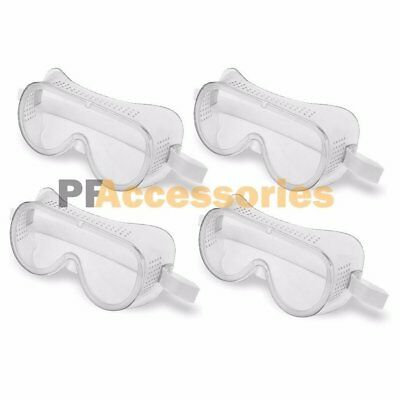 4 Pcs Eye Protection Protective Lab Clear Safety Goggles Glasses Vented Guard