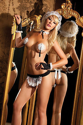 BW-1146 Sexy Women's French Upstairs Maid Roleplay Woman 5 pc Halloween Costume