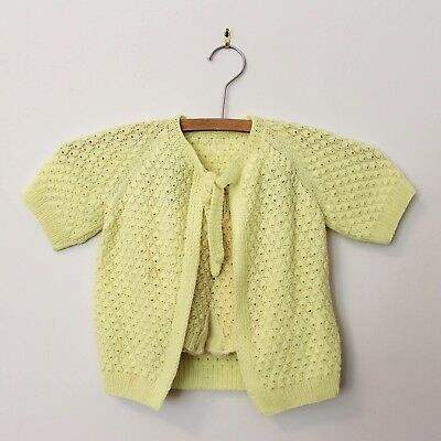 Vintage 1970's baby outfit Yellow Unisex