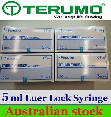 "4 x 5ml Syringe Terumo "" Luer Lock "" - 5ml Terumo Syringes EXP2021"