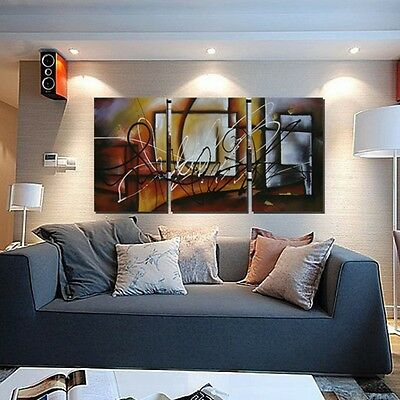 3Pcs Modern Abstract Canvas Oil Painting Print Art Wall Home Decor No Frame US