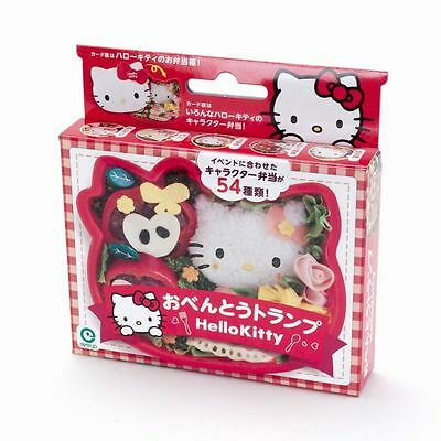 Sanrio  Hello Kitty face shaped Playing card NEW in box bento