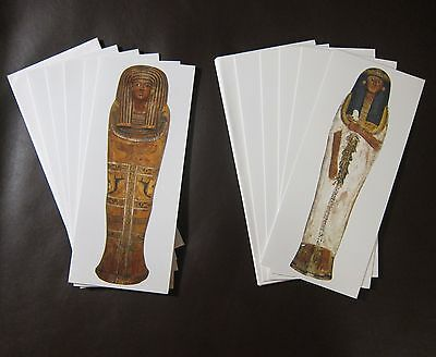 Brooklyn Museum Egyptian Mummy Coffin Sarcophagus 10 Notecards w Envelopes 4 x 9
