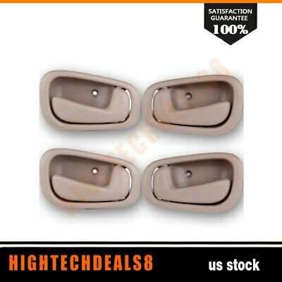 4 New Beige Tan  Right/Left Side Front & Rear Inside  Fits 98-02 Toyota Corolla
