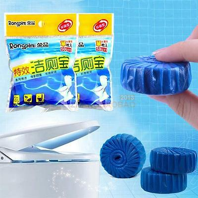 Automatic Bleach Toilet Bowl Cleaner Stain Remover Blue Tab Tablet Flush Tool