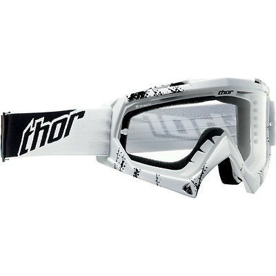 2014 Thor MX Youth Kid's White Web Enemy Goggles Motocross Off Road ATV