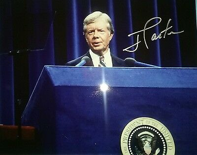 President Jimmy Carter Signed 8x10 Photo