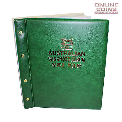 VST Banknote Album Padded Cover Decimal Paper Notes with Pictures - GREEN