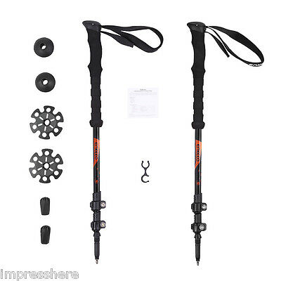 Enkeeo Telescopic Carbon 2 pack Trekking Poles for Hiking/Traveling/Walking