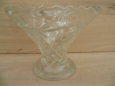 Vintage Old Large Size Crystal Flower Vase