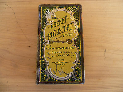 Vintage Old English Pocket Rotoscope Picture Viewer, Tin Fold Out
