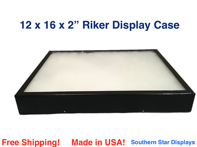 Riker Display Case 12 x 16 x 2 for Collectibles Jewelry Arrowheads & More
