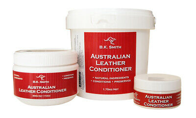 BK Smith Australian Leather Conditioner Cream Shoes Saddles Restorer Softener